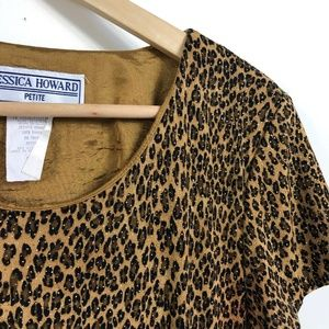3/$50 Vintage Leopard Maxi Dress